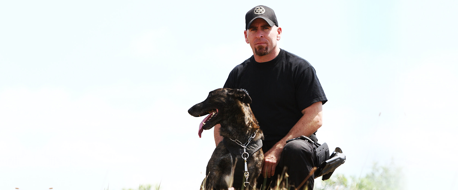 man and K9 dog